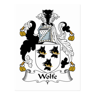 Escudo de la familia de Wolfe Postales