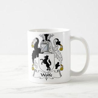 Escudo de la familia de Wolfe Taza De Café