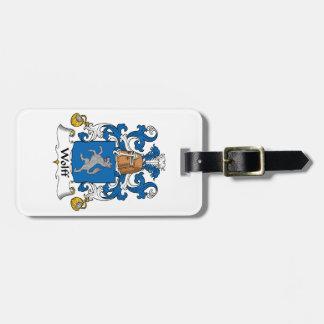 Escudo de la familia de Wolff Etiqueta De Maleta