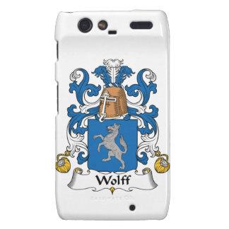 Escudo de la familia de Wolff Motorola Droid RAZR Carcasa