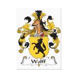 Escudo de la familia de Wolff Impresiones En Lienzo Estiradas