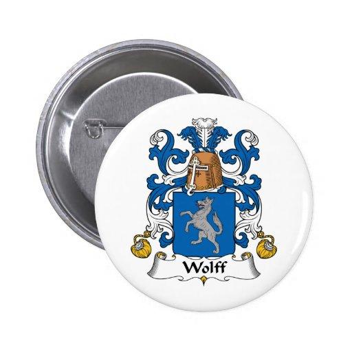 Escudo de la familia de Wolff Pin Redondo 5 Cm