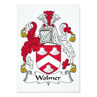 """Escudo de la familia de Wolmer Invitación 5"""" X 7"""""""