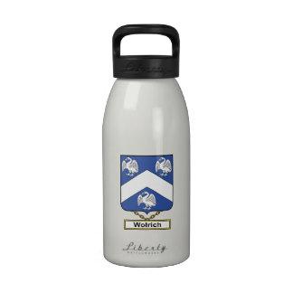 Escudo de la familia de Wolrich Botellas De Beber