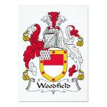 Escudo de la familia de Woodfield Invitación 12,7 X 17,8 Cm
