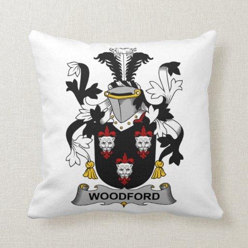 Escudo de la familia de Woodford Cojín