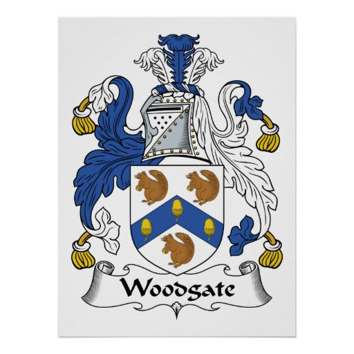 Escudo de la familia de Woodgate Posters
