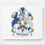 Escudo de la familia de Woodgate Alfombrilla De Ratón