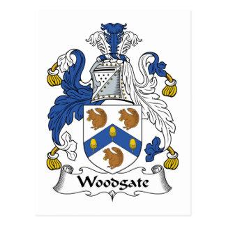 Escudo de la familia de Woodgate Tarjeta Postal