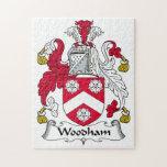 Escudo de la familia de Woodham Rompecabezas Con Fotos