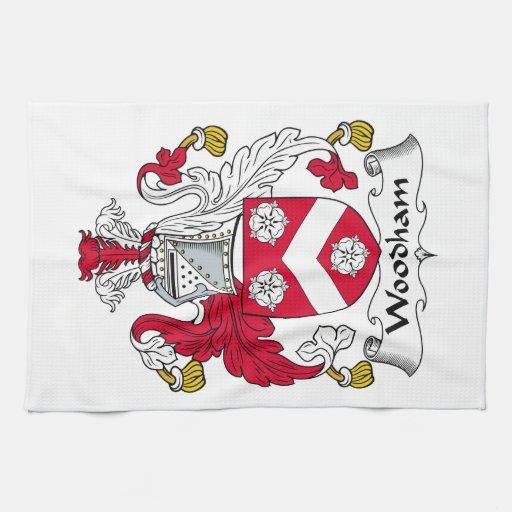Escudo de la familia de Woodham Toallas De Mano