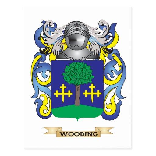 Escudo de la familia de Wooding (escudo de armas) Postal