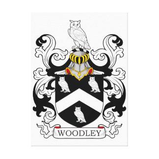 Escudo de la familia de Woodley Impresión En Lona
