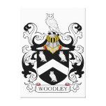 Escudo de la familia de Woodley Impresión En Lona Estirada