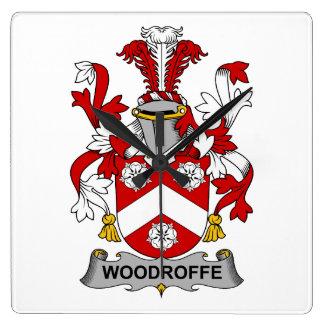 Escudo de la familia de Woodroffe Reloj Cuadrado