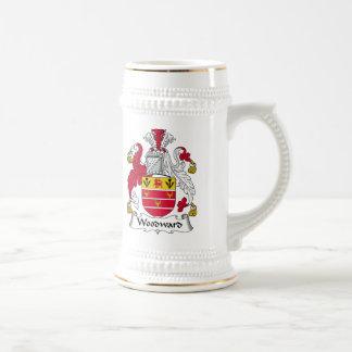 Escudo de la familia de Woodward Jarra De Cerveza