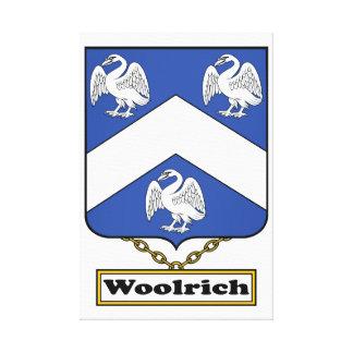Escudo de la familia de Woolrich Lienzo Envuelto Para Galerias