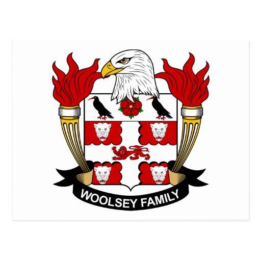 Escudo de la familia de Woolsey Postales