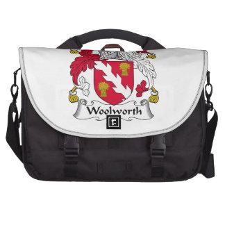 Escudo de la familia de Woolworth Bolsas Para Portatil