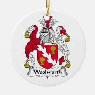 Escudo de la familia de Woolworth Ornamentos De Navidad