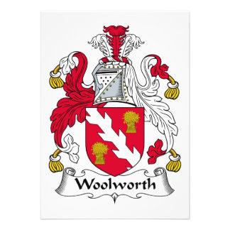 Escudo de la familia de Woolworth Invitación