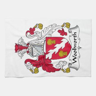 Escudo de la familia de Woolworth Toallas De Cocina