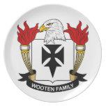 Escudo de la familia de Wooten Platos Para Fiestas