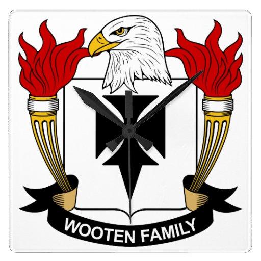 Escudo de la familia de Wooten Relojes De Pared