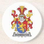 Escudo de la familia de Wormington Posavasos Diseño