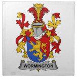 Escudo de la familia de Wormington Servilletas