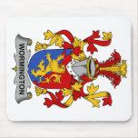 Escudo de la familia de Wormington Tapetes De Ratones