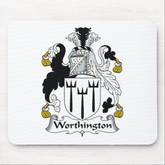 Escudo de la familia de Worthington Alfombrilla De Ratón