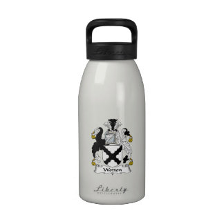 Escudo de la familia de Wotton Botellas De Agua Reutilizables