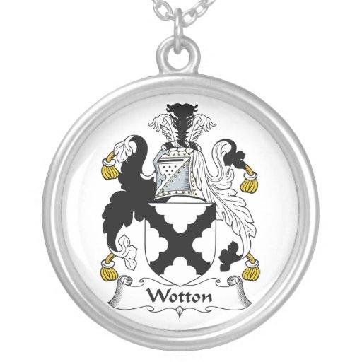 Escudo de la familia de Wotton Colgante Redondo