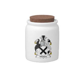 Escudo de la familia de Wotton Jarras Para Caramelos