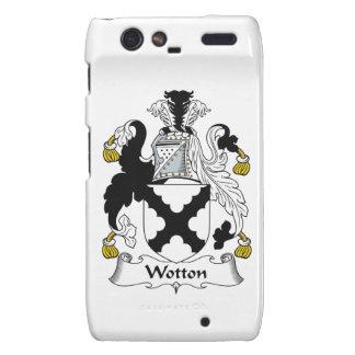 Escudo de la familia de Wotton Droid RAZR Fundas