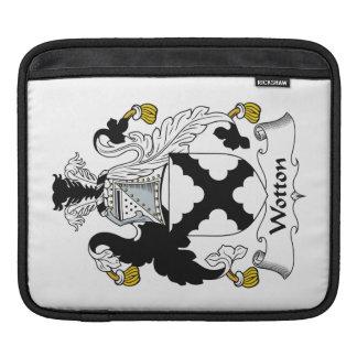 Escudo de la familia de Wotton Fundas Para iPads