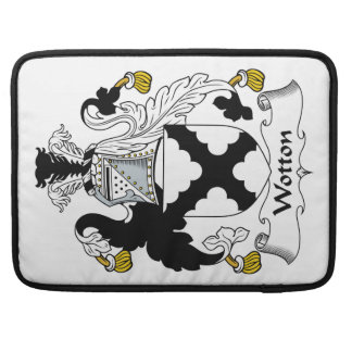 Escudo de la familia de Wotton Funda Para Macbooks