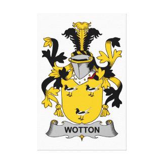 Escudo de la familia de Wotton Lienzo Envuelto Para Galerías