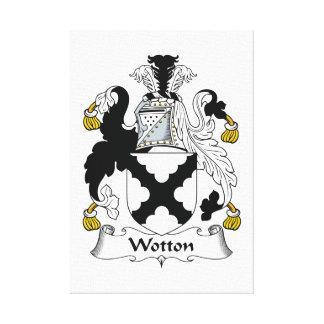 Escudo de la familia de Wotton Impresión De Lienzo