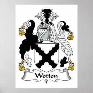 Escudo de la familia de Wotton Posters