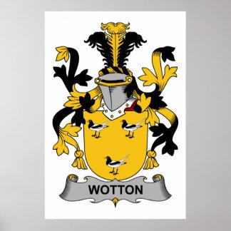 Escudo de la familia de Wotton Impresiones