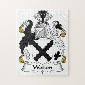 Escudo de la familia de Wotton Rompecabeza