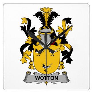 Escudo de la familia de Wotton Relojes De Pared