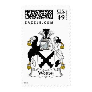 Escudo de la familia de Wotton Sello
