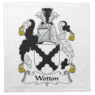 Escudo de la familia de Wotton Servilletas Imprimidas