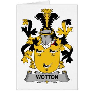 Escudo de la familia de Wotton Felicitaciones