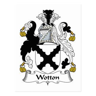 Escudo de la familia de Wotton Tarjetas Postales