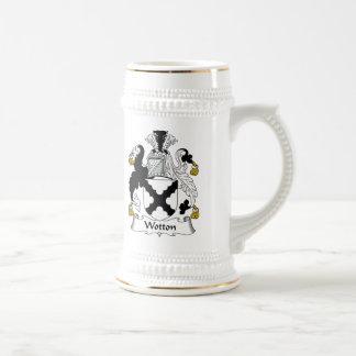 Escudo de la familia de Wotton Tazas De Café