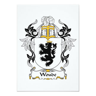 """Escudo de la familia de Woude Invitación 5"""" X 7"""""""